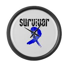 Colon Cancer Survivor Large Wall Clock