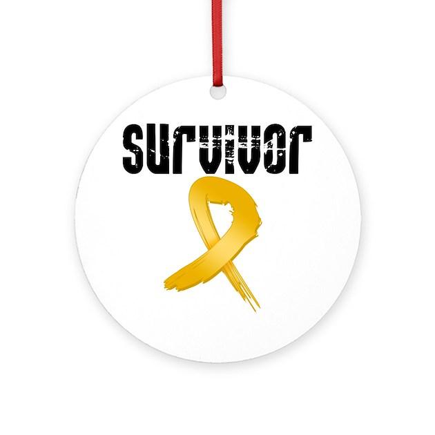 Appendix cancer survivor ornament round by shirts4cancer
