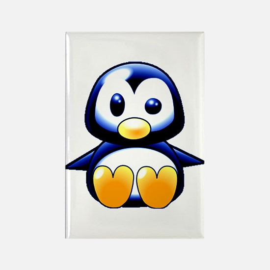 What the Heck Penguin 2 Rectangle Magnet