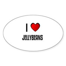 I LOVE JELLYBEANS Oval Decal