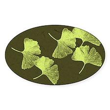 Ginkgo Leaves Sticker (Oval)