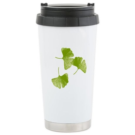 Ginkgo Leaves Stainless Steel Travel Mug