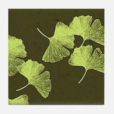 Ginkgo Leaves Tile Coaster