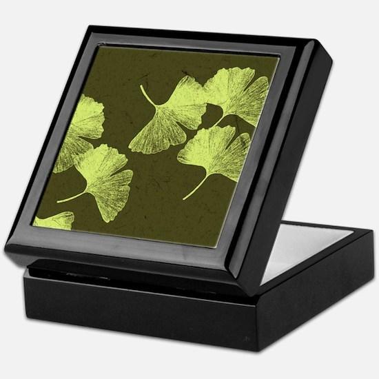 Ginkgo Leaves Keepsake Box