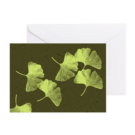 Ginkgo Leaves Greeting Cards (Pk of 20)