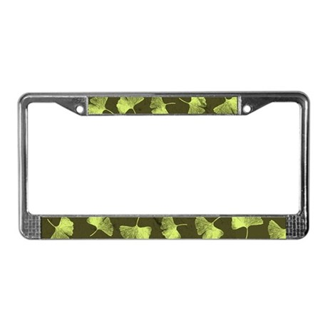 Ginkgo Leaves License Plate Frame