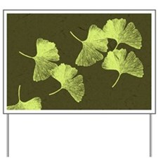 Ginkgo Leaves Yard Sign