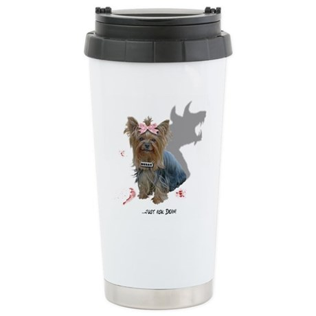 Hell Hound Puppy Stainless Steel Travel Mug