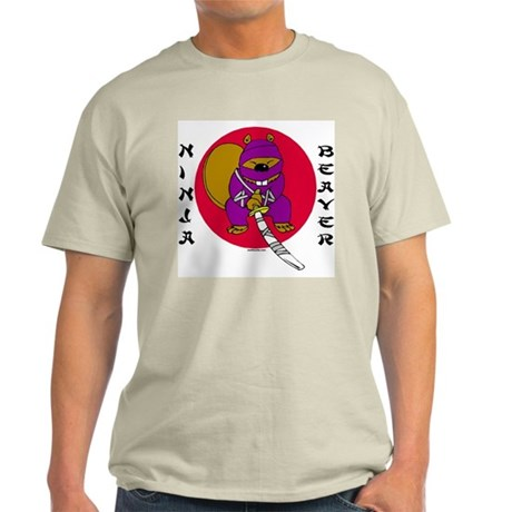 Ninja Beaver Ash Grey T-Shirt