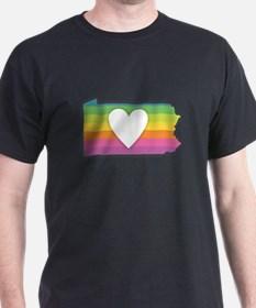 Pennsylvania Rainbow Heart T-Shirt