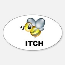 Bee-itch Oval Decal