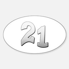 Cool 21st T-shirts Oval Decal
