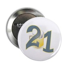 """21st B-day Beer 2.25"""" Button"""
