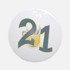 21st B-day Beer Ornament (Round)