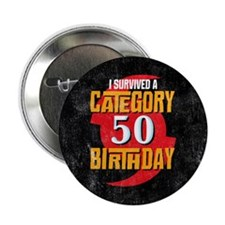 "Category 50 Birthday 2.25"" Button"
