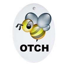 Bee-otch Oval Ornament