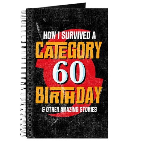 Category 60 Birthday Journal