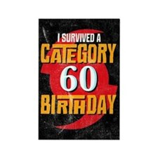 Category 60 Birthday Rectangle Magnet