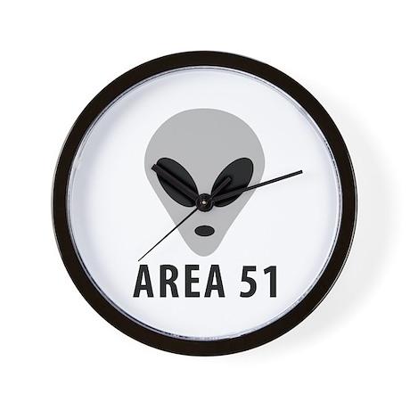 area 51 space alien Wall Clock