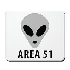 area 51 space alien Mousepad