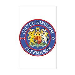 UK Masons Rectangle Decal
