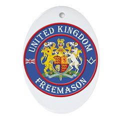 UK Masons Oval Ornament