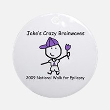 Jake's Crazy Brainwaves Ornament (Round)