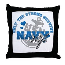 Only the Strong Throw Pillow