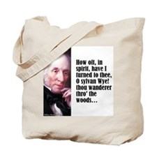 """Wordsworth """"How Oft"""" Tote Bag"""