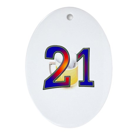 21st Bday Oval Ornament