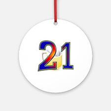 21st Bday Ornament (Round)