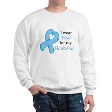 I WEAR lt Blue for my Husband Sweatshirt