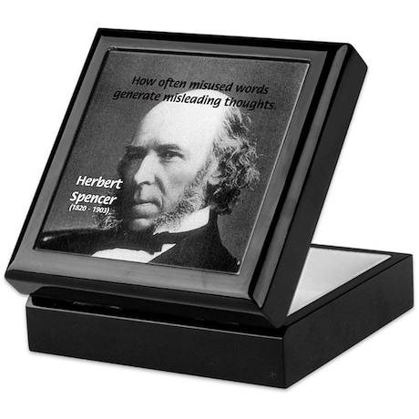 Evolutionist Herbert Spencer Keepsake Box