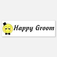 Happy Groom Bumper Bumper Bumper Sticker