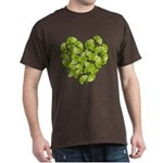 Ginkgo Leaf Heart Dark T-Shirt