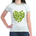 Ginkgo Leaf Heart Jr. Ringer T-Shirt