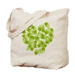 Ginkgo Leaf Heart Tote Bag