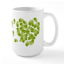 Ginkgo Leaf Heart Large Mug