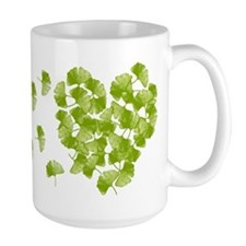 Ginkgo Leaf Heart Mug