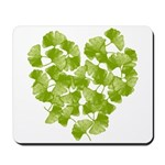 Ginkgo Leaf Heart Mousepad