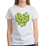 Ginkgo Leaf Heart Women's T-Shirt