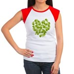 Ginkgo Leaf Heart Women's Cap Sleeve T-Shirt
