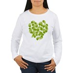 Ginkgo Leaf Heart Women's Long Sleeve T-Shirt