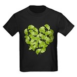 Ginkgo Leaf Heart Kids Dark T-Shirt