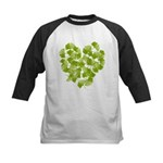 Ginkgo Leaf Heart Kids Baseball Jersey