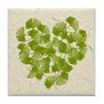 Ginkgo Leaf Heart Tile Coaster