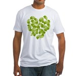 Ginkgo Leaf Heart Fitted T-Shirt