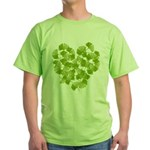 Ginkgo Leaf Heart Green T-Shirt