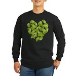 Ginkgo Leaf Heart Long Sleeve Dark T-Shirt