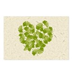 Ginkgo Leaf Heart Postcards (Package of 8)